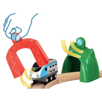 BRIO Smart Tech Lok med Action-Tunnlar, 33834