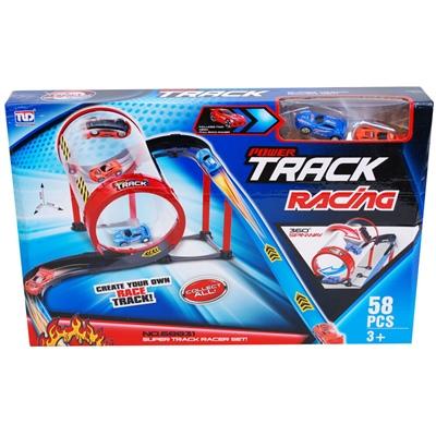 Power Track Racing Plastbilbana 57 Delar, 68831