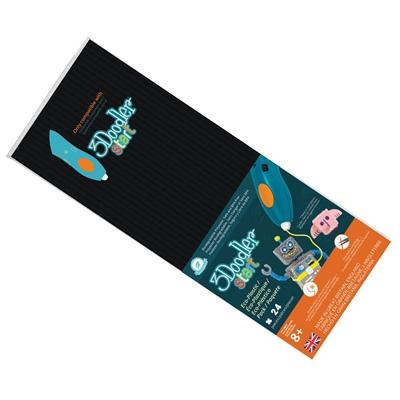 3Doodler Start Plastic Packs Svart 24-Pack, 3DS-ECO10-BLACK-24