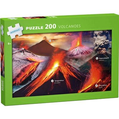 Kärnan Pussel 200 Bitar Volcanoes, 550010