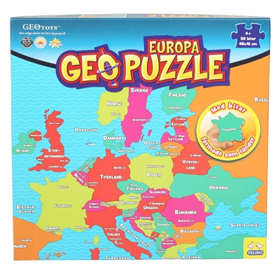 Peliko Geopuzzle 58 Bitar Europa, 40860270