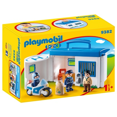 Playmobil 1-2-3 Polisstation Take Along, 9382