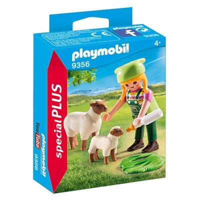 Playmobil Bondflicka med Får, 9356
