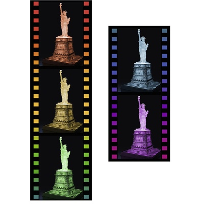 Ravensburger 3D Pussel 108 Bitar Night Edition Statue of Lib, 125968