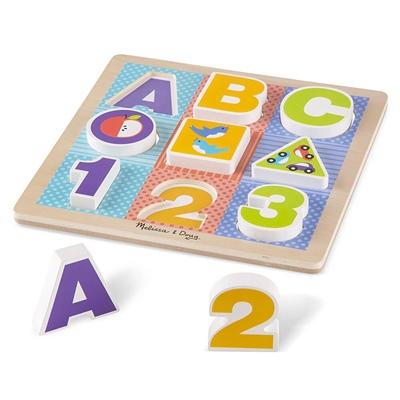 Melissa & Doug ABC-123 Chunky Puzzle, 11899