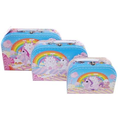 Resväska 3-Pack Enhörningar, CH20609-63