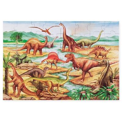 Melissa & Doug Golvpussel 48 Bitar Dinosaurie, 10421