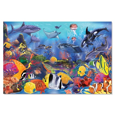 Melissa & Doug Golvpussel 48 Bitar Under Havet, 10427