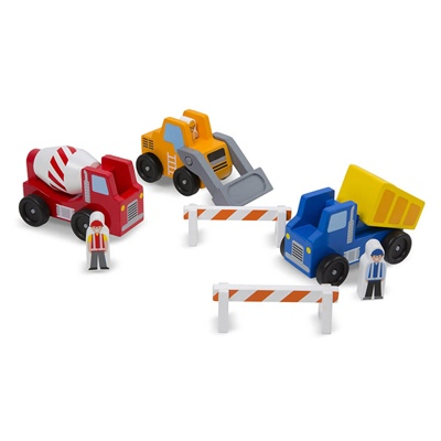 Melissa & Doug Construction Vehicle Set, 10656MD