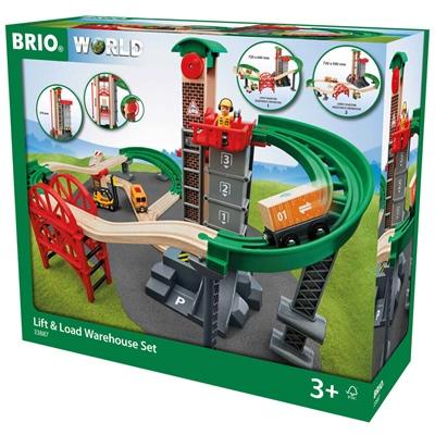 BRIO Set med Hisschakt och Broar, 33887