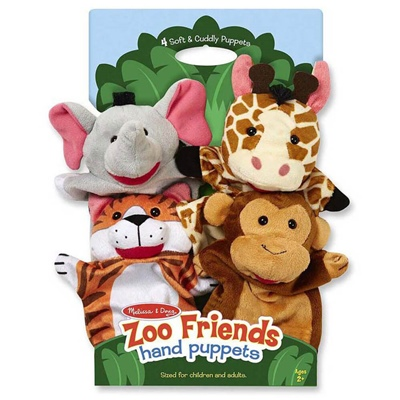 Melissa & Doug Zoo Friends Handdockor, 19081