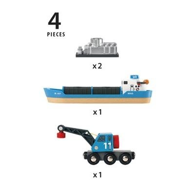 BRIO Kontainerfartyg med Kranvagn, 33534