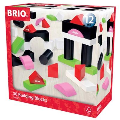 BRIO Byggklossar Färgade 50st, 30156
