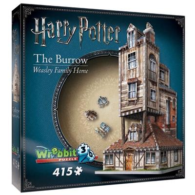 Wrebbit 3D Pussel 415 Bitar Harry Potter The Burrow Weasley, 01011W