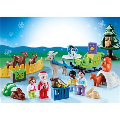 Playmobil 1-2-3 Adventskalender Jul i Djurens Skog, 9391P