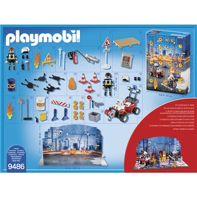Playmobil Adventskalender Brandräddningsaktion, 9486P