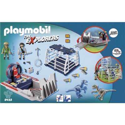 Playmobil Propellerbåt med Dinosauriebur, 9433