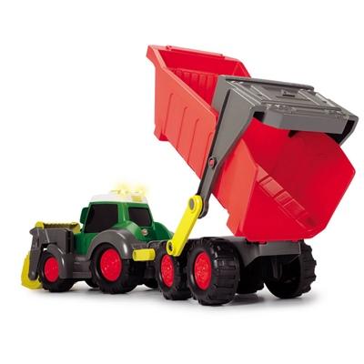 Dickie Toys Happy Fendt Traktor med Skopa och Tippbart Släp, 203819002