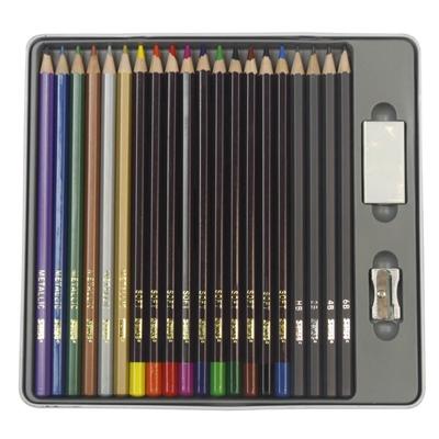 Sense Artist Set - A4 Block & Creative Träfärgpennor 22-Pack, 928007
