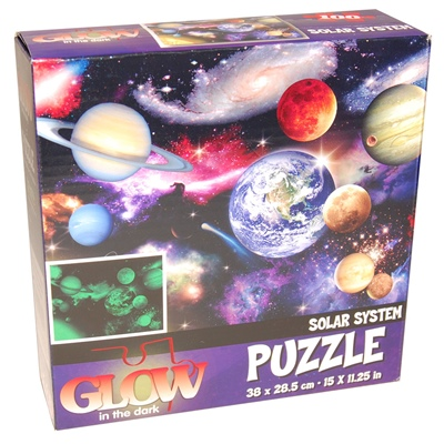 Glow in The Dark Pussel 100 Bitar Solar System, 28823