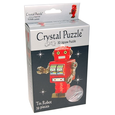 Crystal Puzzle 3D Pussel 39 Bitar Red Robot, 28482
