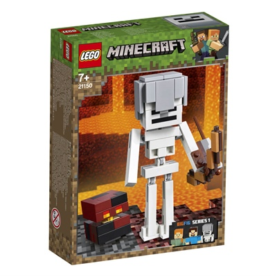 LEGO Minecraft BigFig skelett med Magmakub, 21150