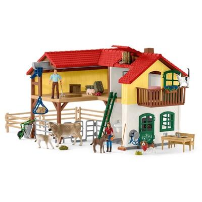 Schleich Farm World Bondgård med Stall och Djur, 42407