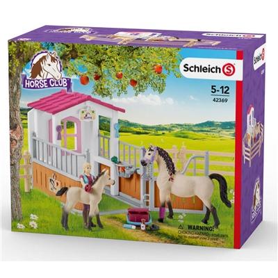Schleich Horse Club Hästbox med Arabhästar och Hästskötare, 42369