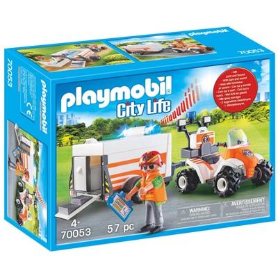 Playmobil Räddningsfyrhjuling med Vagn, 70053