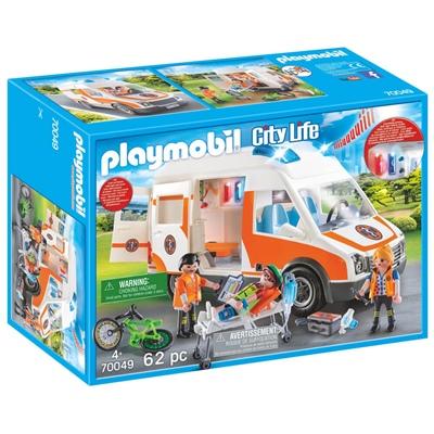 Playmobil Ambulans med Blinkande Ljus, 70049