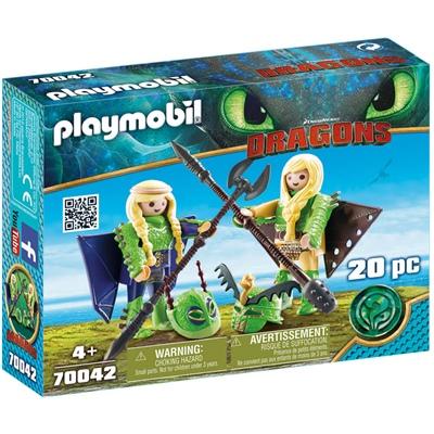 Playmobil DRAGONS Flåbusa och Flåbuse med Flygdräkt, 70042