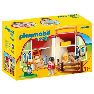 Playmobil 1-2-3 Min Gård att Ta Med, 70180