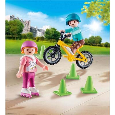 Playmobil Barn med Rullskridskor och Cykel, 70061P