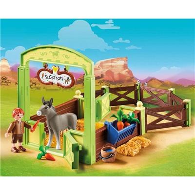 Playmobil Snips och Herr Morot med Häststall, 70120