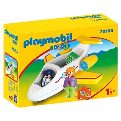 Playmobil 1-2-3 Flygplan med Passagerare, 70185