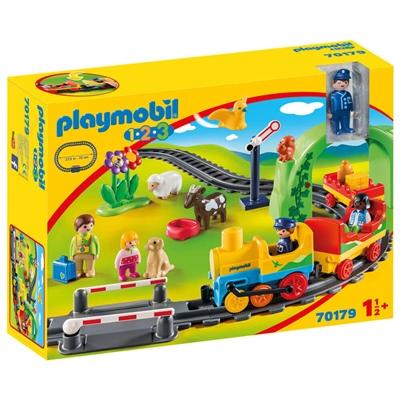 Playmobil 1-2-3 Min Första Tågbyggsats, 70179
