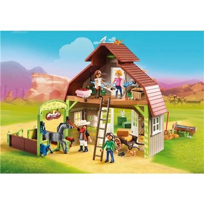 Playmobil Ladugård med Lucky, Pru och Abigail, 70118