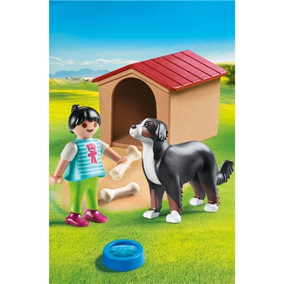 Playmobil Hund med Hundkoja, 70136P