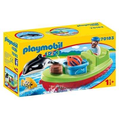 Playmobil 1-2-3 Fiskare med Båt, 70183