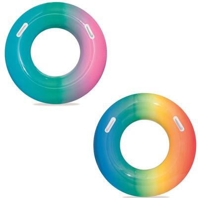 Bestway Badring 91 cm Rainbow 1 st, 36126