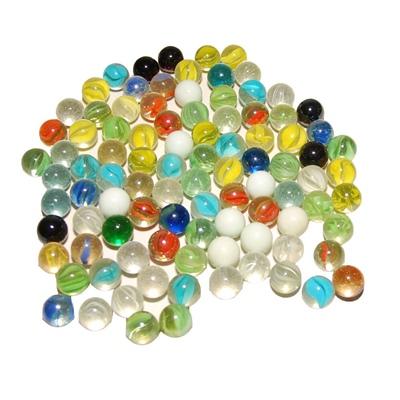 Glaskulor Blandade 500 gram, 27.2717