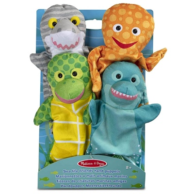 Melissa & Doug Sea Life Friends Handdockor, 19117
