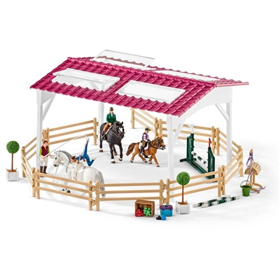 Schleich Horse Club Ridskola med Ryttare och Hästar, 42389