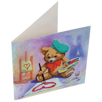 Craft Buddy DIY Crystal Card Kit Teddy Bear, A16
