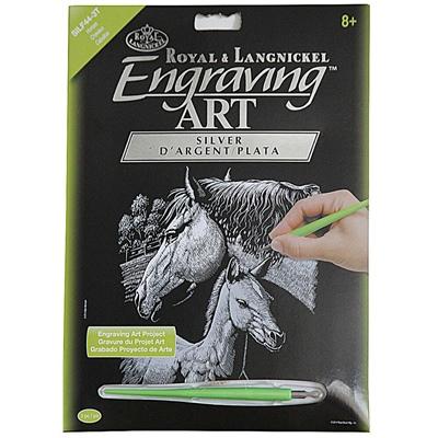 Royal & Langnickel Engraving Art Silver Hästar, SILF44-3T