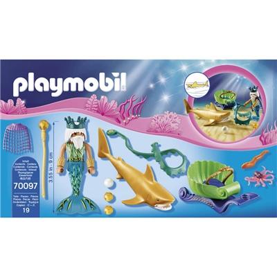 Playmobil Havskungen med Hajvagn, 70097