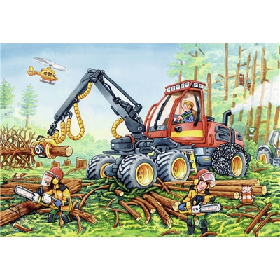 Ravensburger Pussel 2x24 Bitar Diggers at Work, 078028
