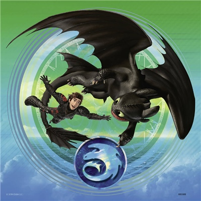 Ravensburger Pussel 3x49 Bitar How To Train Your Dragon, 080649