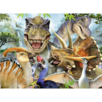 Ravensburger Pussel 300 Bitar XXL Delighted Dinos, 132461