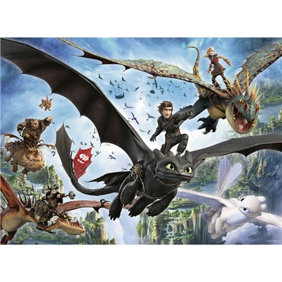 Ravensburger Pussel 100 Bitar XXL How To Train Your Dragon, 109555